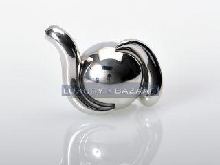 de Grisogono Classic 18K White Gold Boule Griffe Ball Pendant