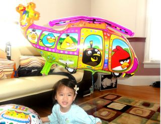 Angry Bird Helicopter Happy Birthday Party Balloon Birds Baby Shower