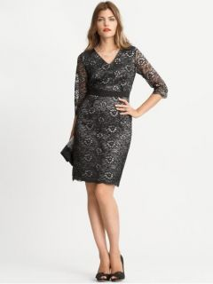 Banana Republic Black Lace Glimmer Dress Size 8