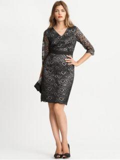 Banana Republic Black Lace Glimmer Dress Size 8