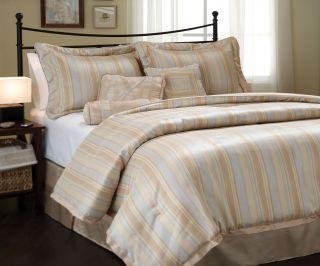 Dessa stripe 7 piece Comforter Set bed in bag Brand NEW Queen