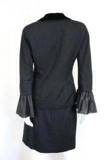 Balenciaga Vintage Black Suit Le Dix Circa 80s at Socialite Auctions
