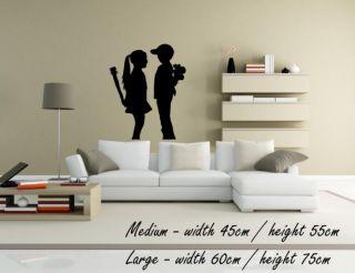 Banksy  Boy Meets Girl  Wall Decal Sticker Street Art Classic High