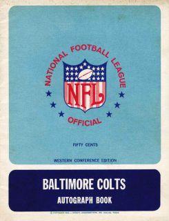 1967 Baltimore Colts NFL Autograph Book Unitas Matte