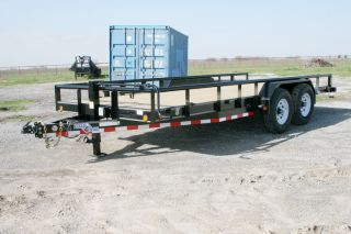 New 18 Bumperpull Equipment Lowboy Trailer w 7K Axles