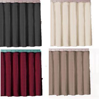Tan Circles Shower Curtain Bathroom Contour Bath Rug 15 Pc Set