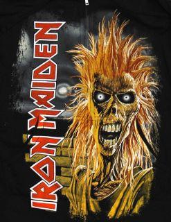 Maiden Killers Album Cover Rock Band Zip Up Hoodie Hooded Sweatshirt