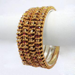 Indian Traditional Woman Wedding Bangle Set CZ Stone Bollywood Jewelry