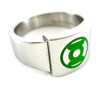 DC Comics Licensed Green Lantern Stainless Steel Ring