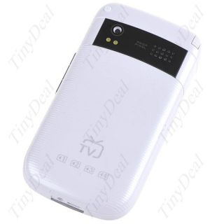 GSM at T 4 Sim QWERTY TV FM Mobile Cell Phone P07 S43