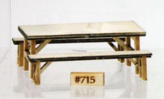 BANTA MODELWORKS Throptons Furniture Mess Hall Table Benchs O BM715