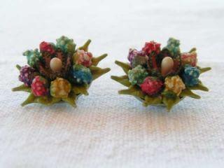 vintage colorful fruit salad earrings