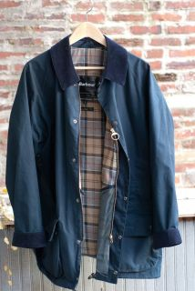 New Original BARBOUR International Beaufort L Large Lined Navy Blue