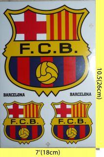 Barcelona Barca Sticker Decal FOOTBALL10 5 x 7 4 Sheets 12 Stickers
