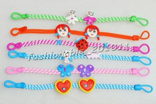 Polymer Clay Assorted Children Kid Baby Jewelry Bracelet 12pcs