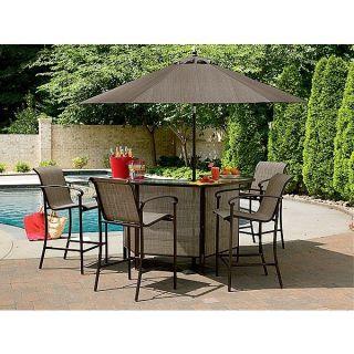 Pc Bar Furniture Patio Outdoor Yard Lawn Pool Lounge Garden Set