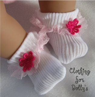 Baby Dolls Clothes Lace Socks Outfit Fit 14 19 FS8