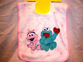 Sesame Street Baby Bibs Pullover Baby Feeding Bib New