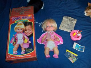 Vintage 1978 Baby Magic Tender Love Doll Comp w Box Inst and Acc LQQK
