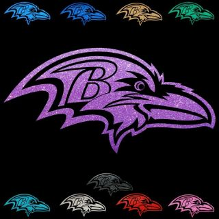 Baltimore Ravens RARE Metallic Glitter Film Auto Window Stickers