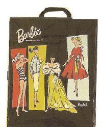 Skooter Cpyrt 1965 Mattel Inc Doll Case w 2 Dolls Clothes