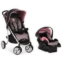 Safety 1STAEROLITE Sport Baby Travel System Eiffel Rose