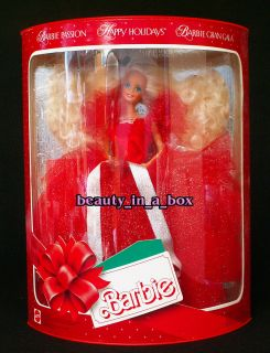 1988 Holiday Happy Holidays Christmas Barbie Doll EU European Passion