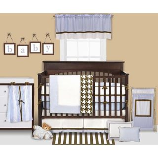 cheap blue brown elephant baby bedding crib set boy room collection. Black Bedroom Furniture Sets. Home Design Ideas
