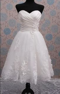 New White Ivory Wedding Dress Bridal Gown Custom Size 2 4 6 8 10 12 14