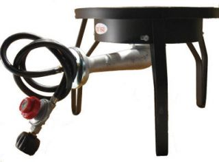 Camping Propane Gas Banjo Burner BBQ Stove Cooker w Stand