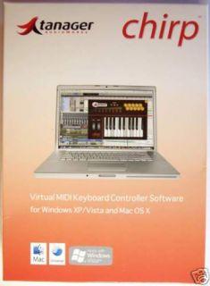 Tanager Chirp Virtual MIDI Keyboard Software 3828