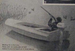 12 Duck Boat Barnegat Bay Sneak Box 1836 Design How to Build Plans
