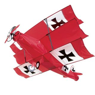 Red Baron Iron Cross Airplane Kite Outdoor Plane Wind Toy