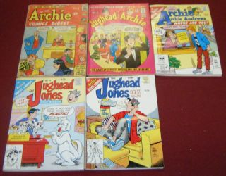 Archie Digest Comics 5 Issues Jughead Betty Veronica