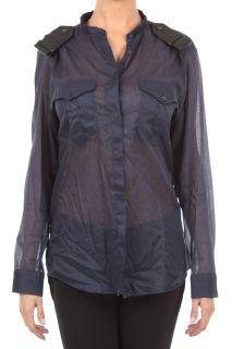 Neil Barrett New Woman Long Sleeves Shirts NCM72C C2160 Col Blue 100