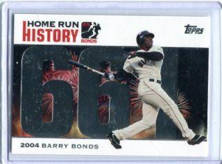 Barry Bonds 2005 Topps Home Run History Homerun #661 San Francisco
