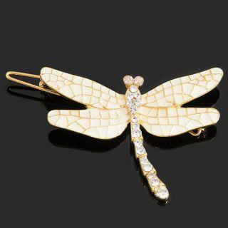 Rhinestone Dragonfly Barrette Bobby Pin Hair Clip C2