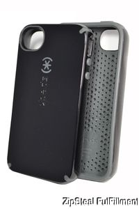 New Batwing Black Grey Speck CandyShell Fitted Case Cover for Apple