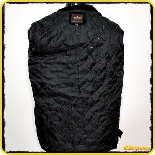 Steve Barrys Wool Jacket Car Coat Mens Size s Small Black