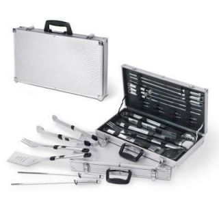 19PC STAINLESS BARBECUE BBQ GRILL UTENSILS/TOOL CASE GIFT SET
