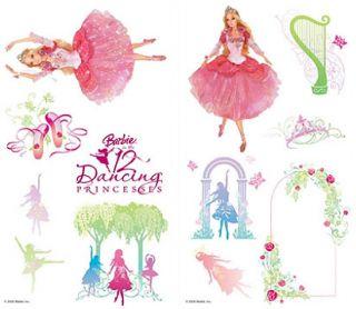 28 Big Barbie Dancing Princess Room Wall Decal Stickers