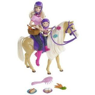 Barbie Chelsea (Kelly) & Tawny Horse & Doll Gift Set 2010 HTF NRFB
