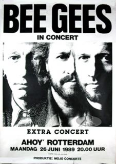 BEE GEES 1989 TOUR CONCERT POSTER Robin Barry Maurice Gibb