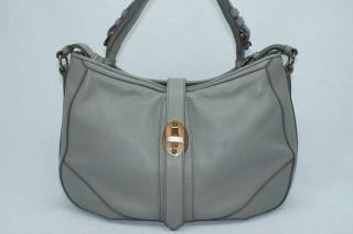 Burberry Bartow Grainy Grey Hobo Satchel Tote Handbag Bag NWT