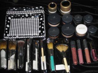 New Bare Minerals Makeup Lipgloss Eyeshadow Blush Brushes Huger Lot