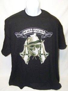 lynyrd skynyrd confederate flag skull t shirt