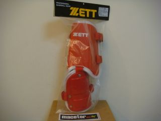 ZETT Pro Baseball Ankle Guard Protective Gear Red White Free SHIP