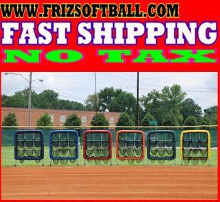 Hole Pitchers Pocket Pitching Target Net Screen 9 Hole Pitchers