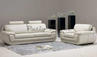 Tosh Furniture Barletta White Leather Living Room FY622