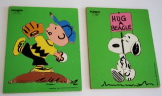 Peanuts Charlie Brown Baseball Snoopy Puzzles Vintage Puzzle